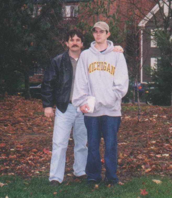 Dad and Robbie, Ann Arbor, 11-19-01